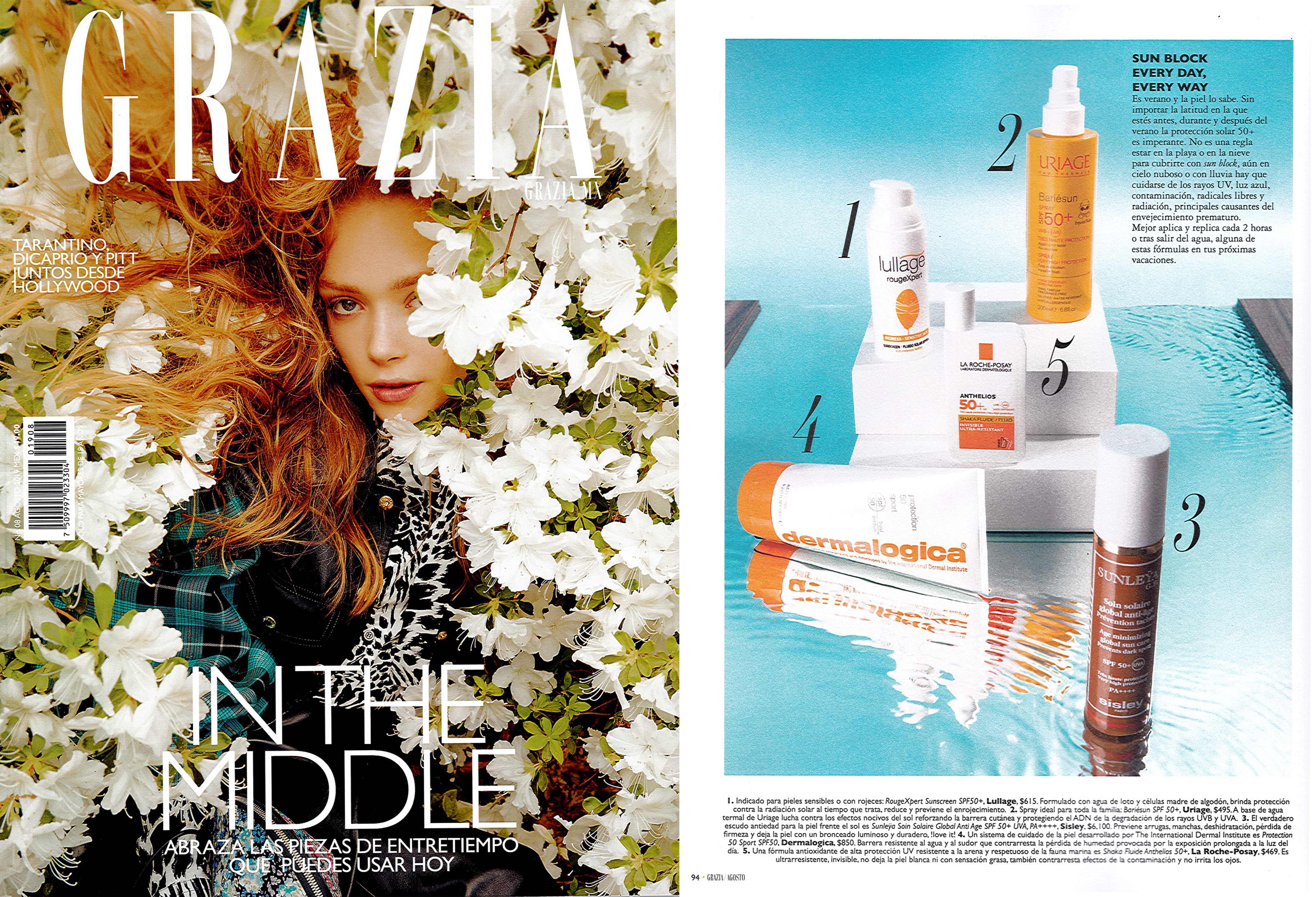 Grazia Mexico recommends Lullage rougeXpert to protect your sensitive skin this summer